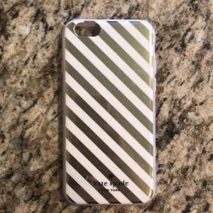 Kate Spade iPhone 6/6s gold Stripe Case